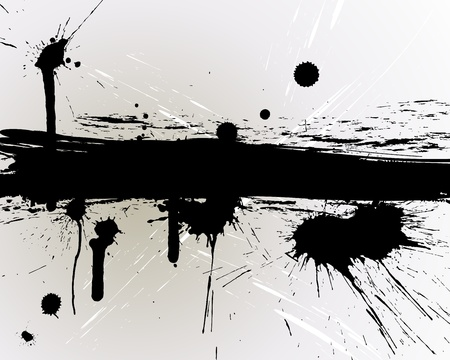 inkblots: Abstract grunge  background for design use.