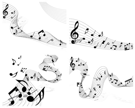musical notes staff set for design use Stock Vector - 8711409
