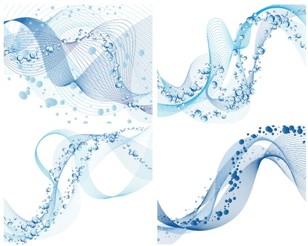 Abstract water  background set with bubbles of air Stock Vector - 8711451