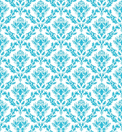 Damask seamless vector pattern.  For easy making seamless pattern just drag all group into swatches bar, and use it for filling any contours. Stock Vector - 8845806
