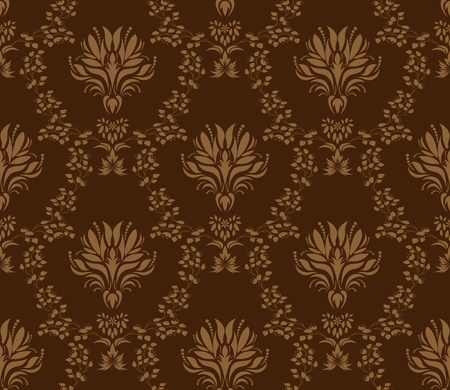 Damask seamless vector pattern.  For easy making seamless pattern just drag all group into swatches bar, and use it for filling any contours. Stock Vector - 8881960