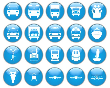 monorail: Transportation set of different vector web icons