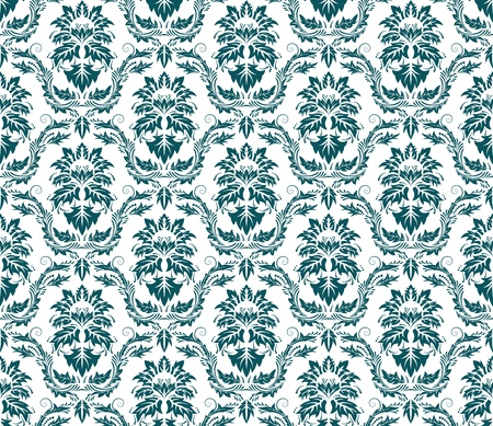 Damask seamless vector pattern.  For easy making seamless pattern just drag all group into swatches bar, and use it for filling any contours. Stock Vector - 8917989