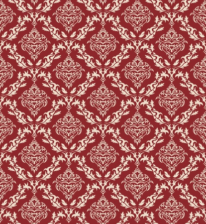 Damask seamless vector pattern.  For easy making seamless pattern just drag all group into swatches bar, and use it for filling any contours. Stock Vector - 8917982