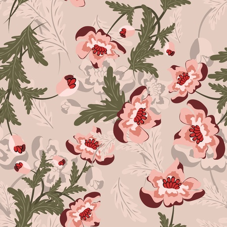 floral backgrounds: Seamless floral pattern.  Illustration