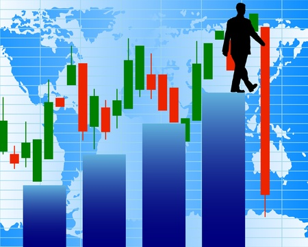 stockmarket: One step to crush. Abstract stock illustration.