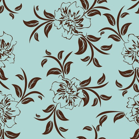 weaves: Seamless vector floral pattern. For easy making seamless pattern just drag all group into swatches bar, and use it for filling any contours. Illustration