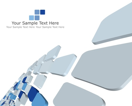 Abstract 3d checked  business background for use in web design Stock Vector - 9105390