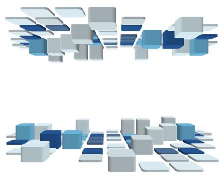 3d astratto bianco business controllato per l'utilizzo nel web design