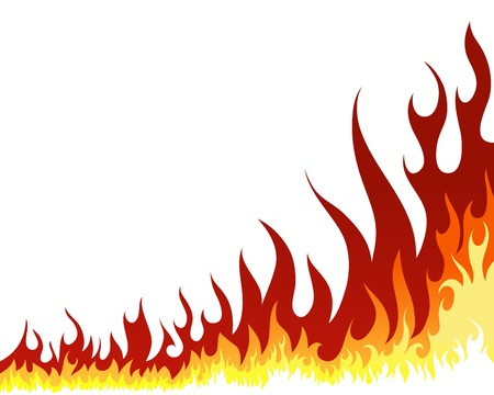 Inferno fire vector background for design use Stock Vector - 9105374