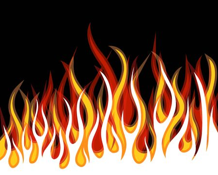 Inferno fire vector background for design use Stock Vector - 9105376