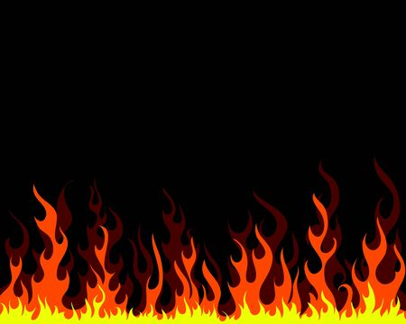 Inferno fire vector background for design use Stock Vector - 9105366