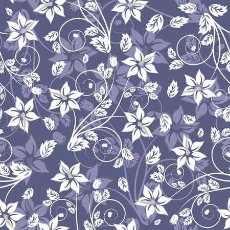 Seamless vector floral pattern. For easy making seamless pattern just drag all group into swatches bar, and use it for filling any contours. Stock Vector - 9105384