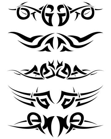 tribales: Utilizan patrones de tatuaje tribal de dise�o. Ilustraci�n vectorial.