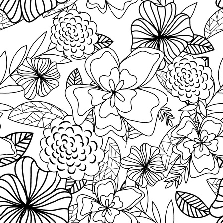 Seamless vector floral pattern. For easy making seamless pattern just drag all group into swatches bar, and use it for filling any contours. Stock Vector - 9147902