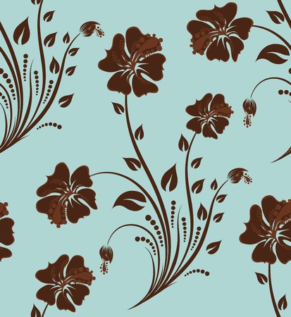 Seamless vector floral pattern. For easy making seamless pattern just drag all group into swatches bar, and use it for filling any contours. Stock Vector - 9147897