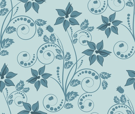 Seamless vector floral pattern. For easy making seamless pattern just drag all group into swatches bar, and use it for filling any contours. Stock Vector - 9147898