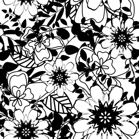 seamless damask: Seamless vector floral pattern. For easy making seamless pattern just drag all group into swatches bar, and use it for filling any contours. Illustration