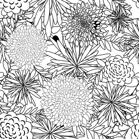 Seamless vector floral pattern. For easy making seamless pattern just drag all group into swatches bar, and use it for filling any contours. Stock Vector - 9147917
