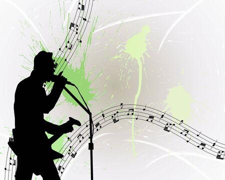 performers: Rock group guitarist. Vector illustration for design use. Illustration