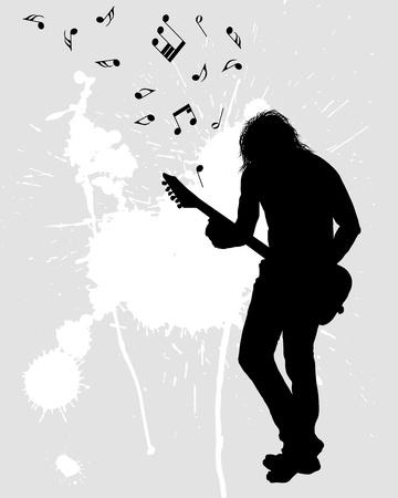 guitarists: Rock group guitarist. Vector illustration for design use. Illustration