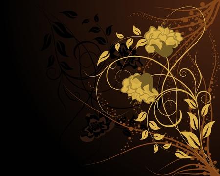 Floral background for design use. Vector illustration. Stock Vector - 9223037