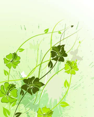 Floral background for design use. Vector illustration. Stock Vector - 9223047