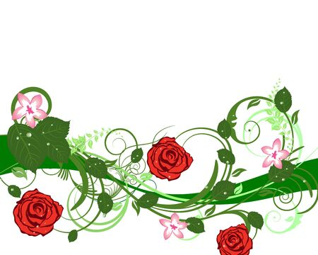 Abstract floral vector frame backgrounds  in Victorian style Stock Vector - 9223052