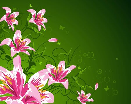 Floral background for design use. Vector illustration. Stock Vector - 9223041