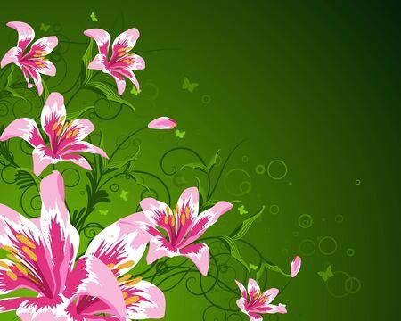 Floral background for design use. Vector illustration. Stock Vector - 9223041