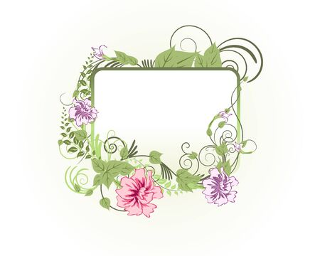 Abstract floral vector frame backgrounds  in Victorian style Stock Vector - 9223040