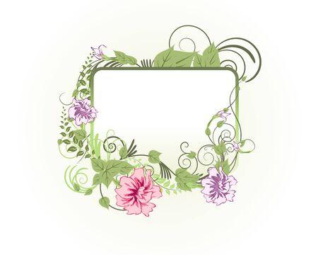floral vector: Vector floral abstracta marco fondos en estilo Victoriano Vectores