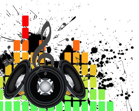 Musical grunge background. Vector illustration. Stock Vector - 9223051