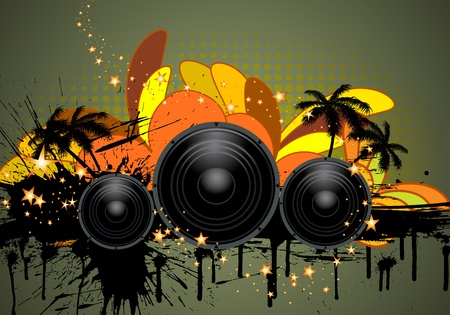 Musical grunge background. Vector illustration. Vector