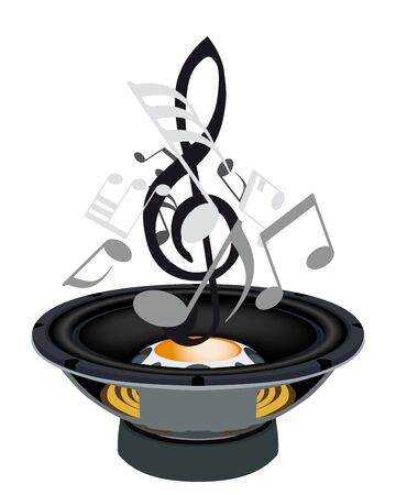songs: Musical grunge background. Vector illustration. Illustration