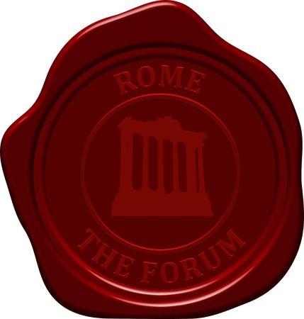 sealing: The forum. Sealing wax stamp for design use.
