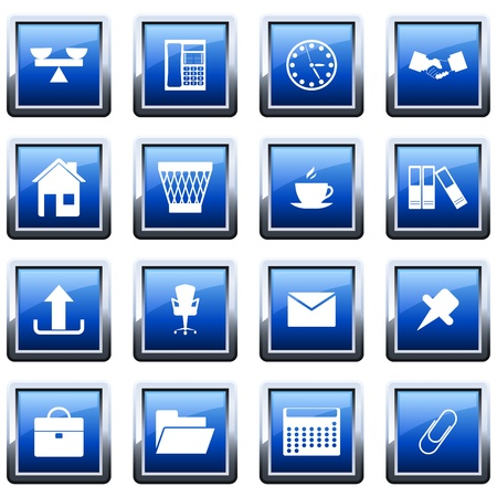 printers: Business and office set of different vector web icons Illustration