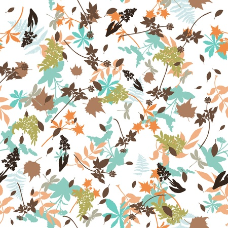 Seamless vector floral pattern. For easy making seamless pattern just drag all group into swatches bar, and use it for filling any contours. Stock Vector - 9278550
