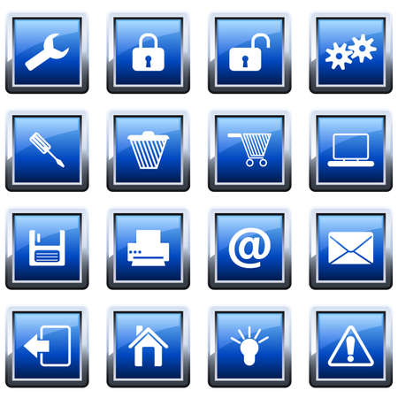 Collection of different icons for using in web design Stock Vector - 9278534