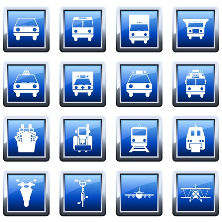 Transportation set of different vector web icons Stock Vector - 9278539