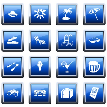 Travel set of different vector web icons Stock Vector - 9278543