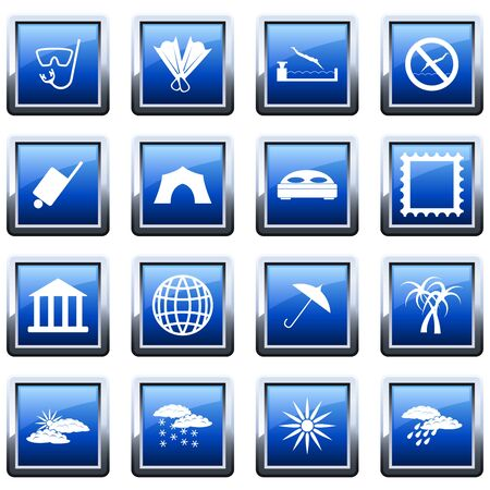 Travel set of different vector web icons Stock Vector - 9278542