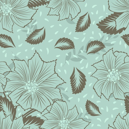 Seamless vector floral pattern. For easy making seamless pattern just drag all group into swatches bar, and use it for filling any contours. Stock Vector - 9417579