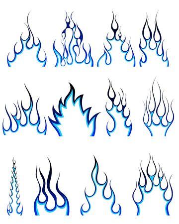 tiges: Ensemble de feu diff�rents patrons pour utilisation de conception