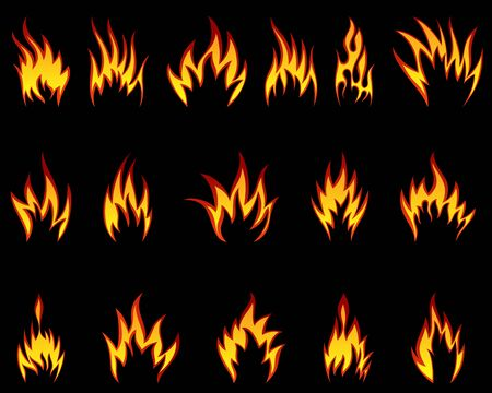 Set of fire vector icons for design use Stock Vector - 9417565