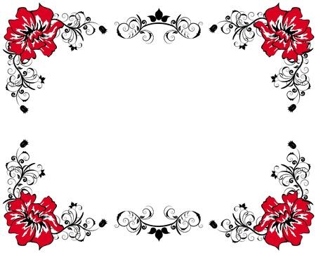 Abstract floral vector frame achtergronden in Victoriaanse stijl