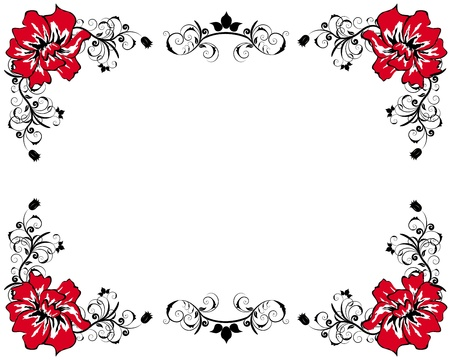Abstract floral vector frame backgrounds  in Victorian style Stock Vector - 9417571
