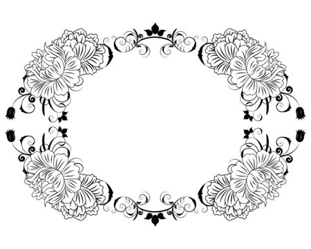 Abstract floral vector frame backgrounds  in Victorian style Stock Vector - 9417564