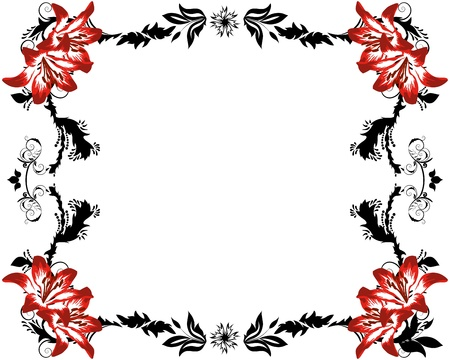 Abstract floral vector frame backgrounds  in Victorian style Stock Vector - 9417572