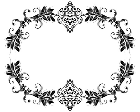 scrool: Abstract floral vector frame backgrounds  in Victorian style Illustration